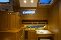 Interiors and details onboard Sabre 54 Flybridge in Portland, Maine.