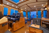 Interiors onboard Sabre 54 in Jupiter, FL.