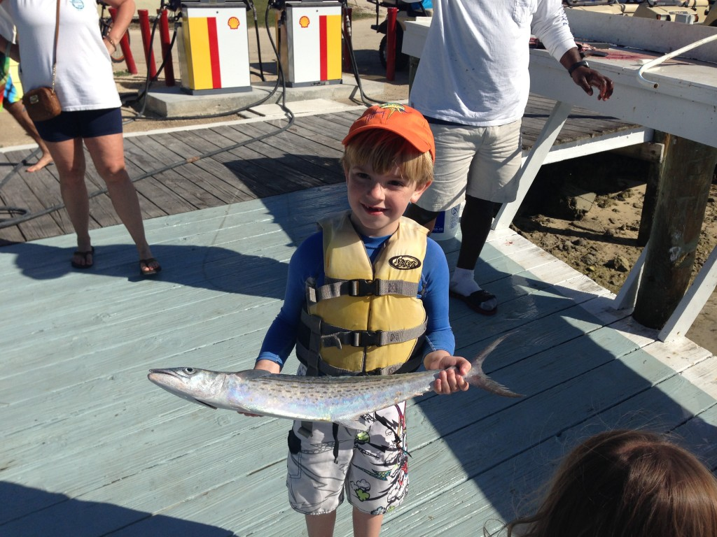 Holy Mackerel! Patrick's son Will with his big catch.