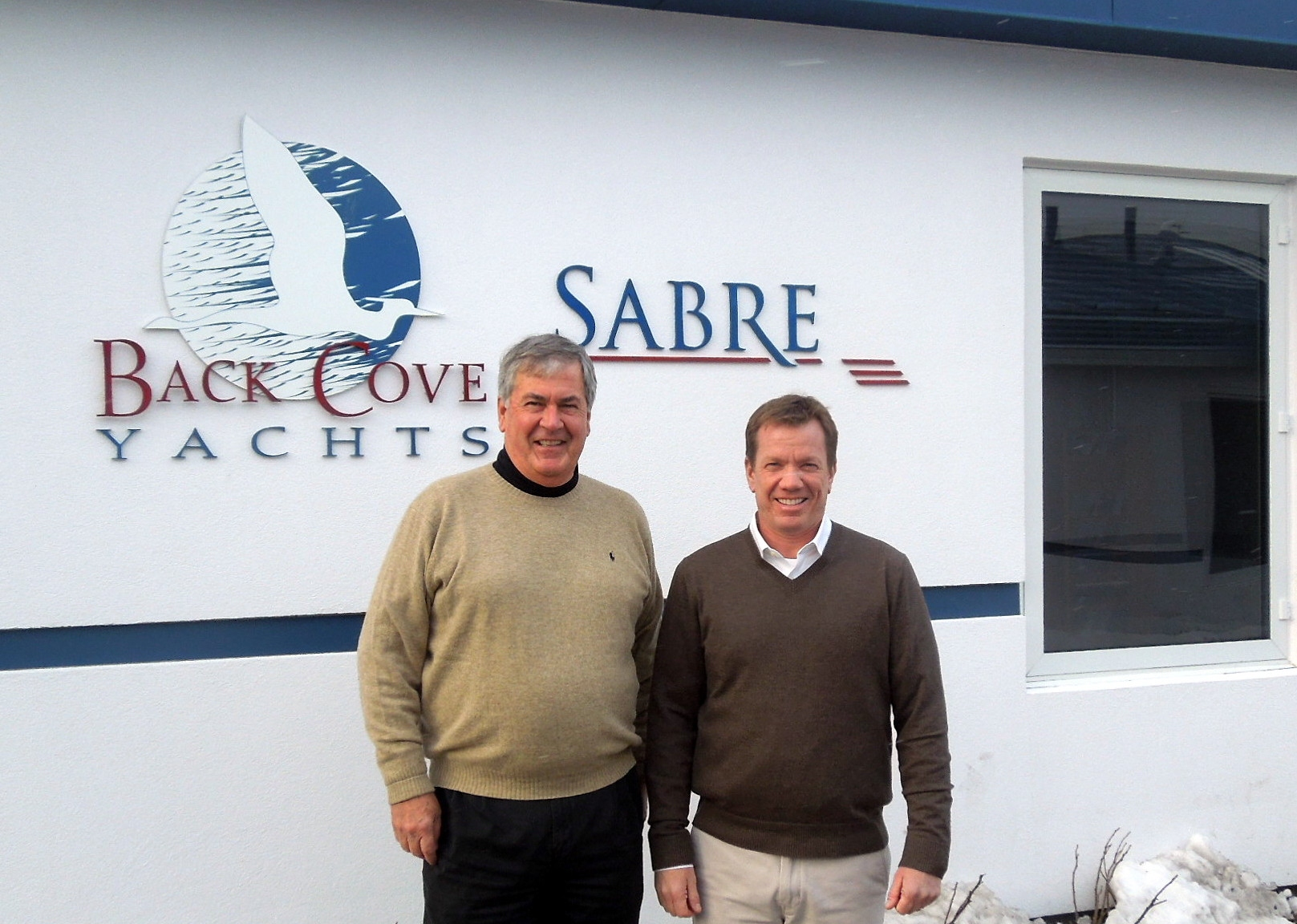 Bentley Collins, VP of Sales and Marketing & Chris DiMillo, Owner of DiMillo's Yacht Sales